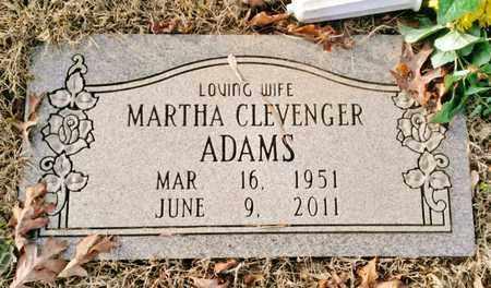 CLEVENGER ADAMS, MARTHA - Bradley County, Tennessee | MARTHA CLEVENGER ADAMS - Tennessee Gravestone Photos
