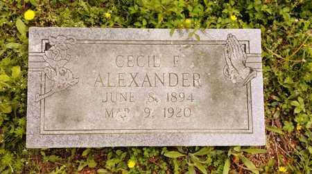 ALEXANDER(2ND STONE), CECIL F. - Bradley County, Tennessee   CECIL F. ALEXANDER(2ND STONE) - Tennessee Gravestone Photos