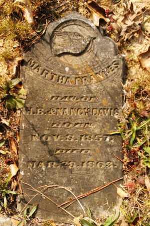 DAVIS, MARTHA FRANCES - Bradley County, Tennessee | MARTHA FRANCES DAVIS - Tennessee Gravestone Photos
