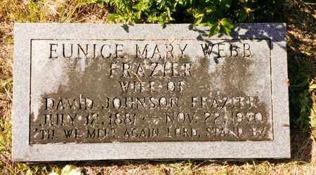 WEBB FRAZIER, EUNICE MARY - Bradley County, Tennessee | EUNICE MARY WEBB FRAZIER - Tennessee Gravestone Photos