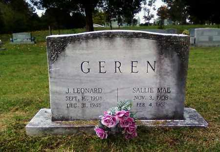 GRAHAM GEREN, SALLIE MAE - Bradley County, Tennessee | SALLIE MAE GRAHAM GEREN - Tennessee Gravestone Photos