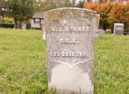 HORNER   (VETERAN UNION), A. J. - Bradley County, Tennessee | A. J. HORNER   (VETERAN UNION) - Tennessee Gravestone Photos