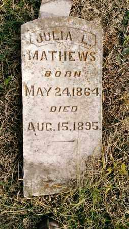 MATHEWS, JULIA L. - Bradley County, Tennessee | JULIA L. MATHEWS - Tennessee Gravestone Photos