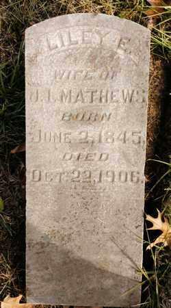 WALKER MATHEWS, LILEY E. - Bradley County, Tennessee | LILEY E. WALKER MATHEWS - Tennessee Gravestone Photos