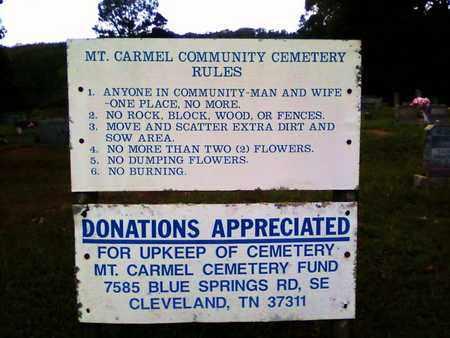 *MOUNT CARMEL CEMETERY,  - Bradley County, Tennessee    *MOUNT CARMEL CEMETERY - Tennessee Gravestone Photos