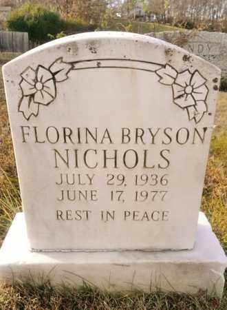 BRYSON NICHOLS, FLORINA - Bradley County, Tennessee | FLORINA BRYSON NICHOLS - Tennessee Gravestone Photos