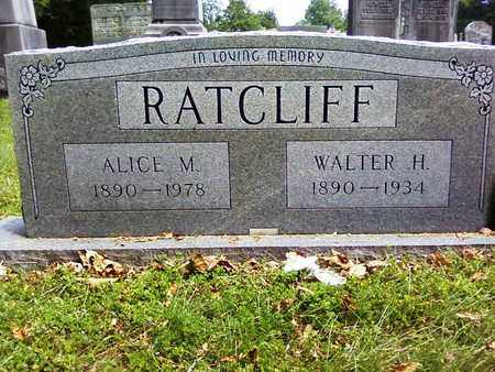 RATCLIFF, ALICE M. - Bradley County, Tennessee | ALICE M. RATCLIFF - Tennessee Gravestone Photos