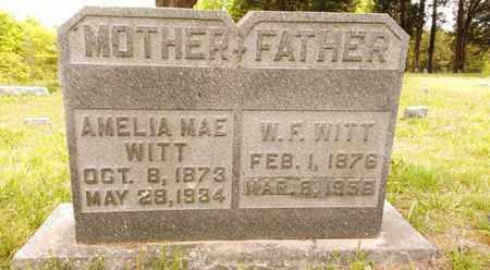 WITT, AMELIA MAE - Bradley County, Tennessee | AMELIA MAE WITT - Tennessee Gravestone Photos
