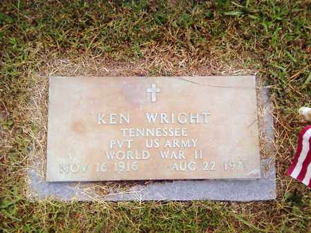 WRIGHT  (VETERAN WWII), KEN - Bradley County, Tennessee | KEN WRIGHT  (VETERAN WWII) - Tennessee Gravestone Photos