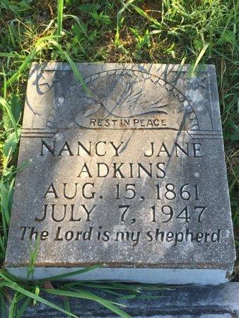 HATFIELD ADKINS, NANCY JANE - Campbell County, Tennessee | NANCY JANE HATFIELD ADKINS - Tennessee Gravestone Photos
