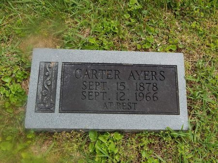 AYERS, CARTER - Campbell County, Tennessee | CARTER AYERS - Tennessee Gravestone Photos