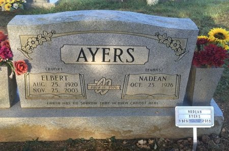 AYERS, ELBERT - Campbell County, Tennessee | ELBERT AYERS - Tennessee Gravestone Photos