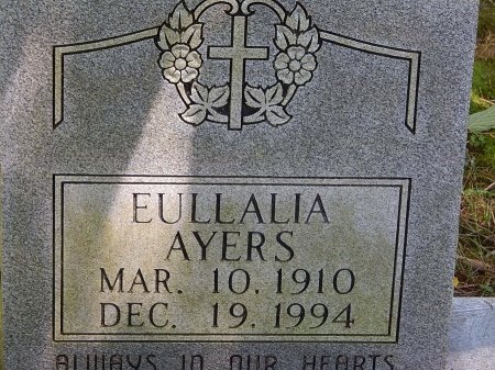 AYERS, EULLALIA - Campbell County, Tennessee | EULLALIA AYERS - Tennessee Gravestone Photos