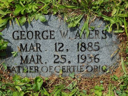 AYERS, GEORGE W - Campbell County, Tennessee | GEORGE W AYERS - Tennessee Gravestone Photos