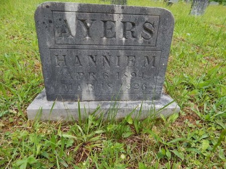 AYERS, HANNIE M - Campbell County, Tennessee | HANNIE M AYERS - Tennessee Gravestone Photos