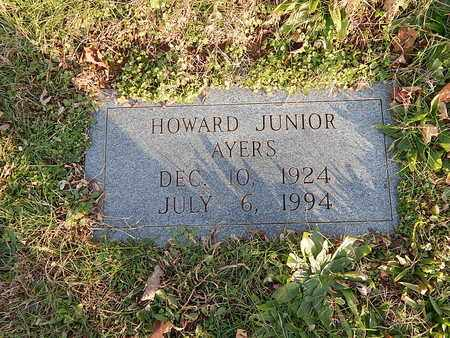 AYERS, HOWARD  JUNIOR - Campbell County, Tennessee   HOWARD  JUNIOR AYERS - Tennessee Gravestone Photos