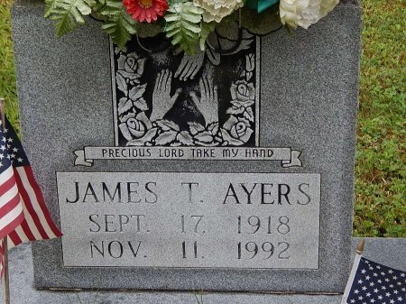AYERS, JAMES T - Campbell County, Tennessee | JAMES T AYERS - Tennessee Gravestone Photos