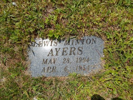AYERS, LEWIS MINTON - Campbell County, Tennessee | LEWIS MINTON AYERS - Tennessee Gravestone Photos