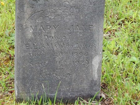 AYERS, MARY JANE - Campbell County, Tennessee | MARY JANE AYERS - Tennessee Gravestone Photos