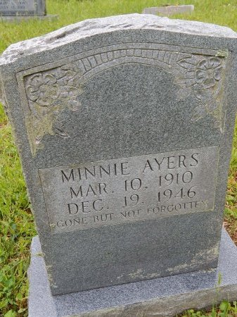 AYERS, MINNIE - Campbell County, Tennessee | MINNIE AYERS - Tennessee Gravestone Photos