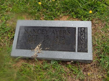 AYERS, NANCEY - Campbell County, Tennessee | NANCEY AYERS - Tennessee Gravestone Photos