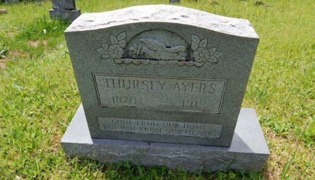 AYERS, THURSEY - Campbell County, Tennessee | THURSEY AYERS - Tennessee Gravestone Photos