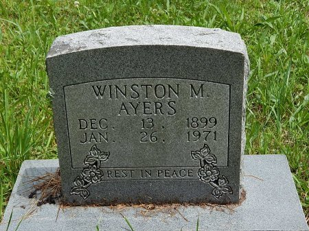 AYERS, WINSTON M - Campbell County, Tennessee   WINSTON M AYERS - Tennessee Gravestone Photos