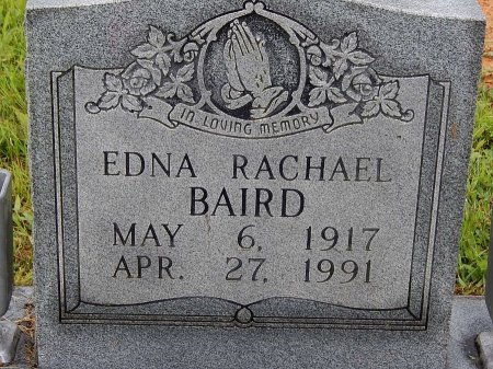 BAIRD, EDNA RACHAEL - Campbell County, Tennessee | EDNA RACHAEL BAIRD - Tennessee Gravestone Photos