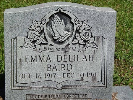 BAIRD, EMMA DELILAH - Campbell County, Tennessee | EMMA DELILAH BAIRD - Tennessee Gravestone Photos