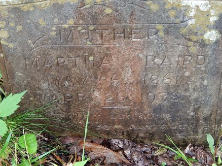 BAIRD, MARTHA - Campbell County, Tennessee | MARTHA BAIRD - Tennessee Gravestone Photos