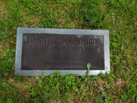 BAIRD, MARTHA JANE - Campbell County, Tennessee | MARTHA JANE BAIRD - Tennessee Gravestone Photos