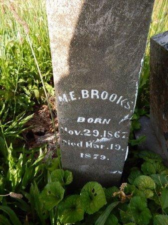 BROOKS, M E - Campbell County, Tennessee | M E BROOKS - Tennessee Gravestone Photos