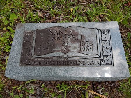 CAMPBELL, NANCY E - Campbell County, Tennessee | NANCY E CAMPBELL - Tennessee Gravestone Photos