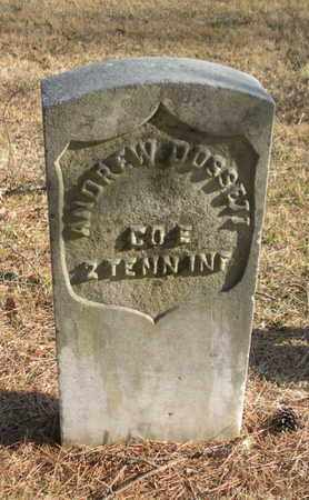 DOSSETT  (VETERAN UNION), ANDREW - Campbell County, Tennessee | ANDREW DOSSETT  (VETERAN UNION) - Tennessee Gravestone Photos