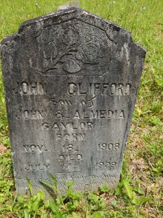 GAYLOR, JOHN CLIFFORD - Campbell County, Tennessee | JOHN CLIFFORD GAYLOR - Tennessee Gravestone Photos