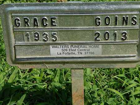 GOINS, GRACE - Campbell County, Tennessee | GRACE GOINS - Tennessee Gravestone Photos