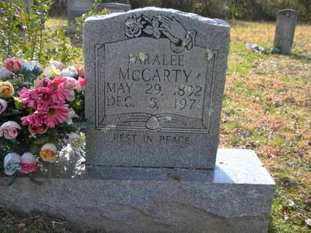 MCCARTY, PARALEE - Campbell County, Tennessee | PARALEE MCCARTY - Tennessee Gravestone Photos