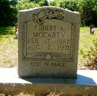 MCCARTY, ROBERT A - Campbell County, Tennessee | ROBERT A MCCARTY - Tennessee Gravestone Photos