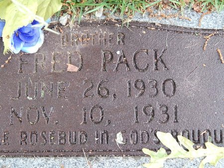 PACK, FRED - Campbell County, Tennessee | FRED PACK - Tennessee Gravestone Photos