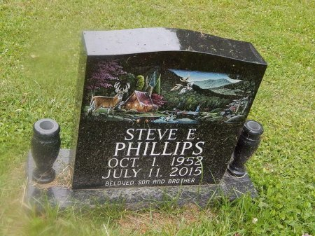 PHILLIPS, STEVE E - Campbell County, Tennessee | STEVE E PHILLIPS - Tennessee Gravestone Photos