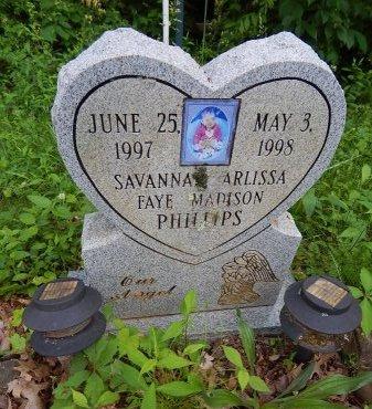 PHILLIPS, SAVANNAH ARLISSA FAYE MADISON - Campbell County, Tennessee | SAVANNAH ARLISSA FAYE MADISON PHILLIPS - Tennessee Gravestone Photos