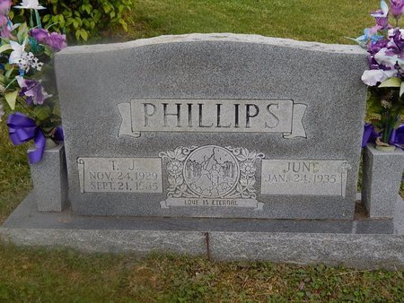 PHILLIPS, T J - Campbell County, Tennessee | T J PHILLIPS - Tennessee Gravestone Photos