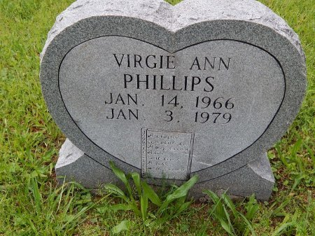 PHILLIPS, VIRGIE ANN - Campbell County, Tennessee | VIRGIE ANN PHILLIPS - Tennessee Gravestone Photos