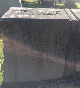 QUEENER, MARGARET JANE (CLOSE-UP) - Campbell County, Tennessee | MARGARET JANE (CLOSE-UP) QUEENER - Tennessee Gravestone Photos
