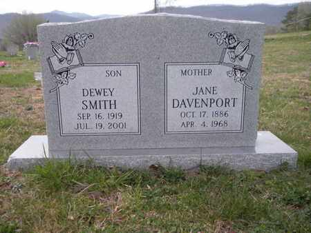 DAVENPORT, JANE - Campbell County, Tennessee | JANE DAVENPORT - Tennessee Gravestone Photos