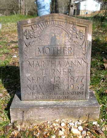 TURNER, MARTHA ANN - Campbell County, Tennessee | MARTHA ANN TURNER - Tennessee Gravestone Photos