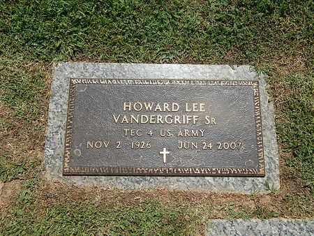 VANDERGRIFF  SR (VETERAN), HOWARD LEE - Campbell County, Tennessee | HOWARD LEE VANDERGRIFF  SR (VETERAN) - Tennessee Gravestone Photos