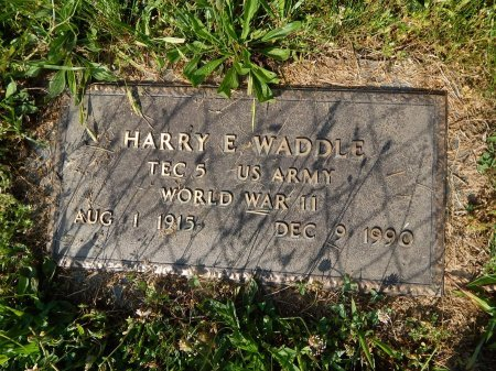 WADDLE (VETERAN WWII), HARRY E   - Campbell County, Tennessee | HARRY E   WADDLE (VETERAN WWII) - Tennessee Gravestone Photos