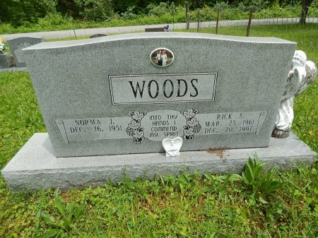 WOODS, RICK S - Campbell County, Tennessee   RICK S WOODS - Tennessee Gravestone Photos