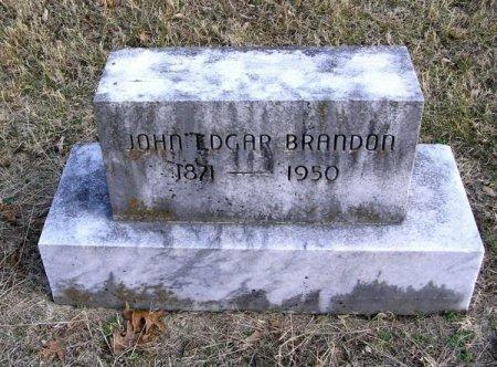 BRANDON, JOHN EDGAR - Cannon County, Tennessee | JOHN EDGAR BRANDON - Tennessee Gravestone Photos